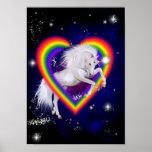 Poster del arco iris del unicornio