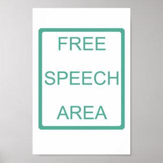 Poster del área del discurso libre