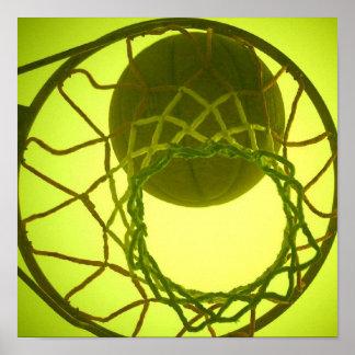 Poster del aro de baloncesto
