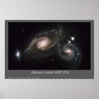 Poster del ARP 274 del trío de la galaxia