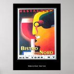 Poster del art déco de Restaurant Bistro Du Nord N