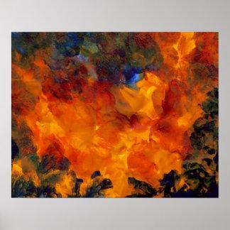 Poster del arte abstracto de CricketDiane - llamas