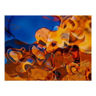 Poster del arte abstracto de los ritmos de Santa F