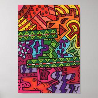 Poster del arte abstracto del terreno #36 del
