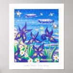 Poster del arte: Azul del iris