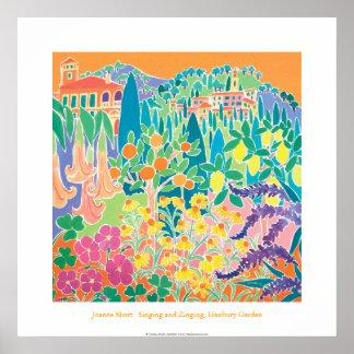Poster del arte: Canto y Zinging, jardín de