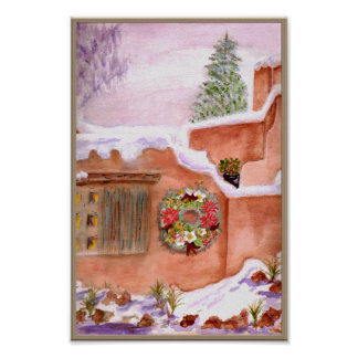 Poster del arte de Adobe de la estación del invier
