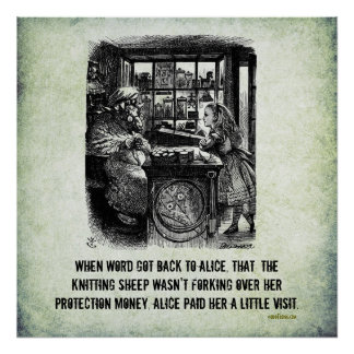 Poster del arte de Alicia de la estafa de la prote