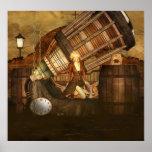 Poster del arte de Ceris Tortuga Steampunk