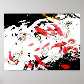 Poster del arte de Digitaces de los pescados de Ko