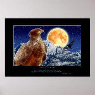 Poster del arte de EAGLE y del CUERVO