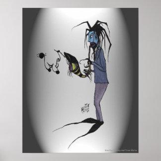 Poster del arte de Jake del Bluesman de Tricia Mar