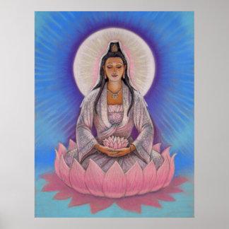 Poster del arte de Kuan Yin de la diosa