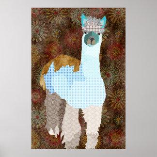 Poster del arte de la alpaca de Abby