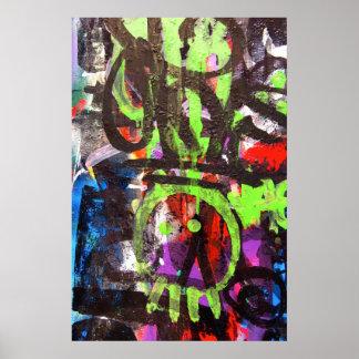 poster del arte de la calle de la pintada