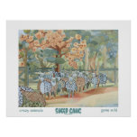 Poster del arte de la cuadrilla de las ovejas
