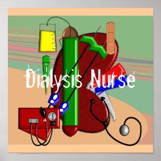Poster del arte de la enfermera de la diálisis