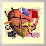 Poster del ARTE de la enfermera de Trauma/ER