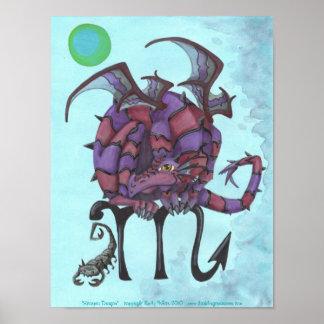 Poster del arte de la fantasía de la astrología de