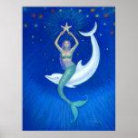 Poster del arte de la fantasía de la sirena de la
