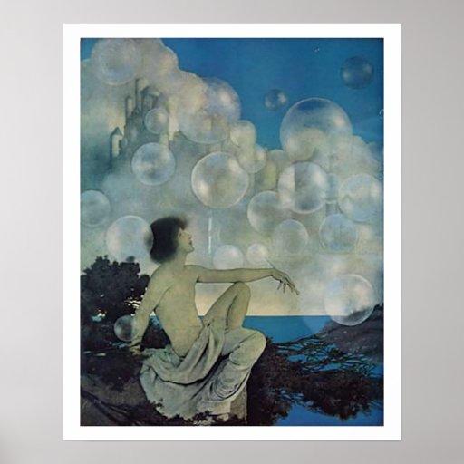 Poster del arte de la fantasía de las burbujas