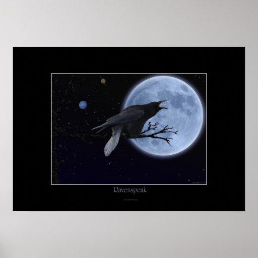Poster del arte de la fantasía de RAVENSPEAK