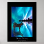 Poster del arte de la fantasía del perro esquimal