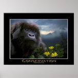 Poster del arte de la fauna de África del gorila d