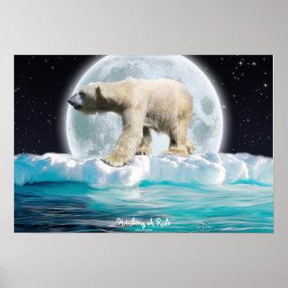 Poster del arte de la fauna de la masa de hielo fl
