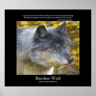 Poster del arte de la fauna del poema del retrato