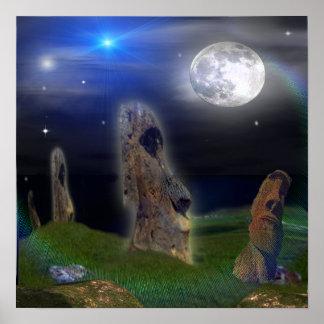 Poster del arte de la isla de pascua