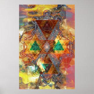 Poster del arte de la mandala de Metatron