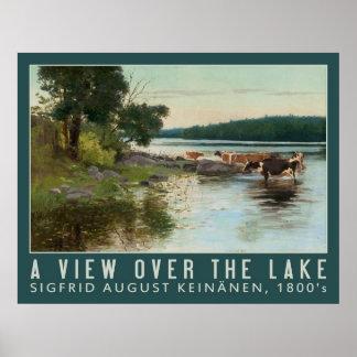Poster del arte de la opinión del lago Keinänen