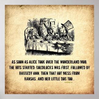 Poster del arte de la parodia de Alicia del jefe d