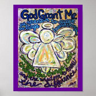 Poster del arte de la pintura del ángel del rezo d