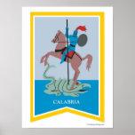 Poster del arte de la región de Calabria Italia
