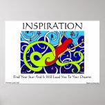 Poster del arte de la sirena de la inspiración