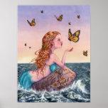 Poster del arte de la sirena - tráigame las notici