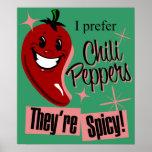 Poster del arte de las pimientas de chile $24,95