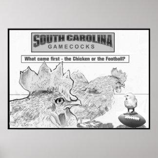 Poster del arte de los gallos de pelea