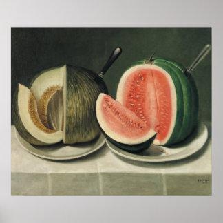 """Poster del arte de los """"melones"""""""
