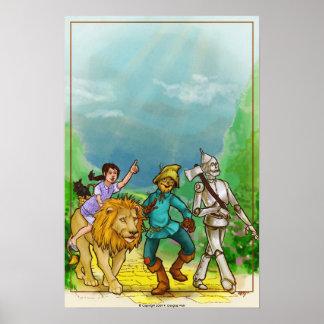 Poster del arte de mago de Oz