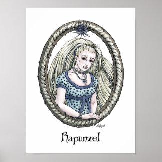 """Poster del arte de """"Rapunzel"""" del cuento de hadas"""