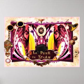 """Poster del arte de Steampunk del vapor de Le Punk"