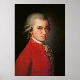 Poster del arte de Wolfgang Amadeus Mozart