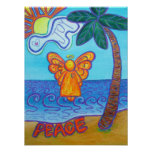 Poster del arte del ángel de la playa de Californi