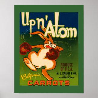 Poster del arte del anuncio de las zanahorias de C