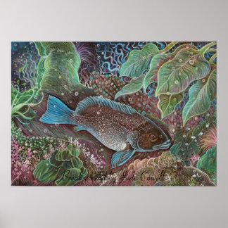 Poster del arte del bacalao de Breaksea