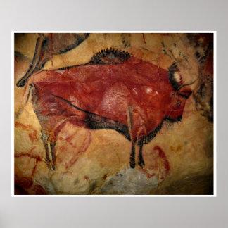 Poster del arte del búfalo del bisonte de Altamira
