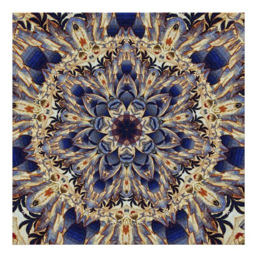 Poster del arte del caleidoscopio de la tapicería